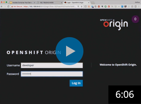 Ansible + OpenShift