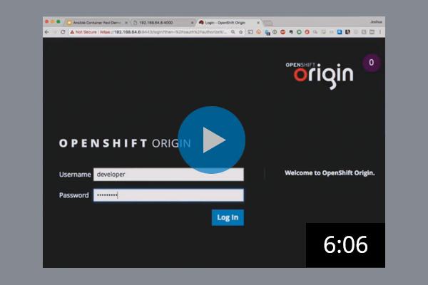 OpenShift Login Screenshot