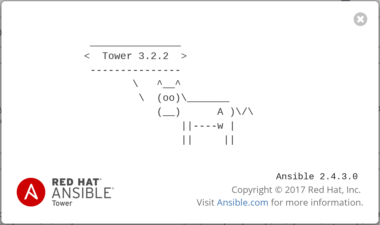 Ansible Tower Cowsay Screen