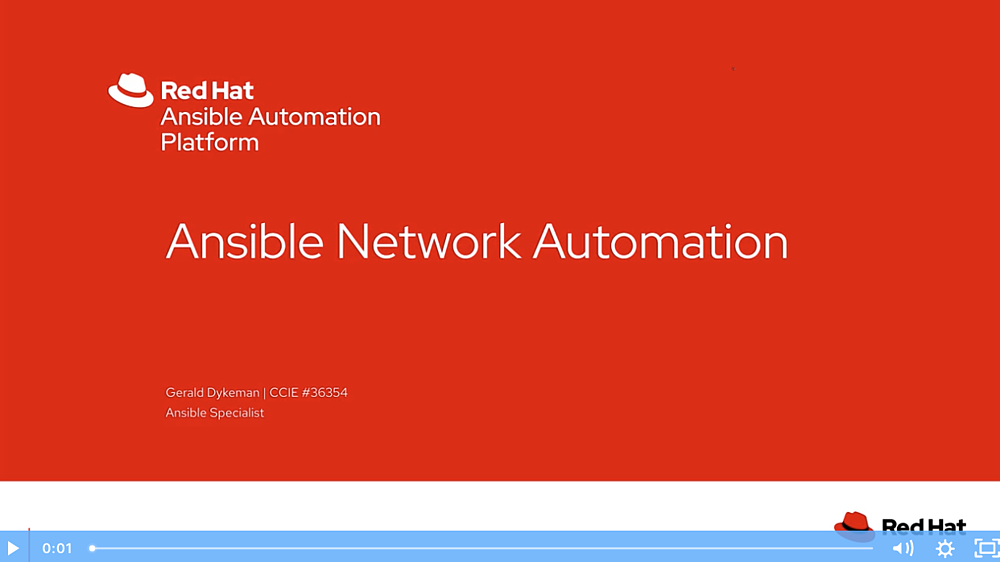 Ansible network automation