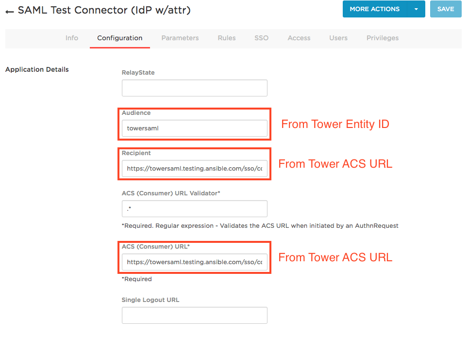 Using SAML with Ansible Tower