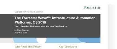 Forrester Wave Automation Platforms